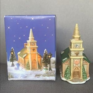 Christmas Village Church Miniature Hand Painted
